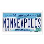 Minneapolis License Sticker (Rectangle)