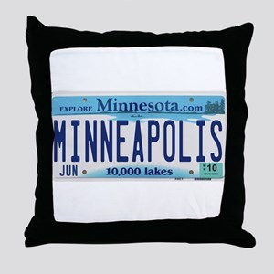 Minneapolis License Throw Pillow