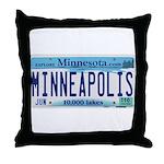 Minneapolis License Throw Pillow