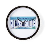 Minneapolis License Wall Clock