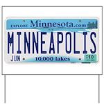 Minneapolis License Yard Sign