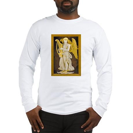 Angel With Golden Harp Long Sleeve T-Shirt