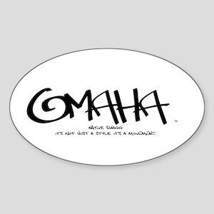 Omaha Tag Oval Sticker