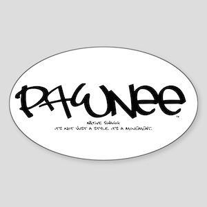Pawnee Tag Oval Sticker