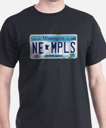 NE Minneapolis License Plate T-Shirt