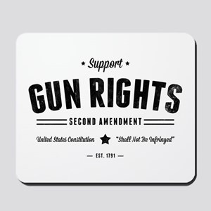 Support Gun Rights Mousepad