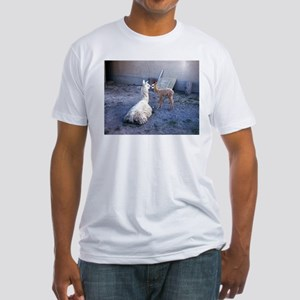 mom and baby llama Fitted T-Shirt