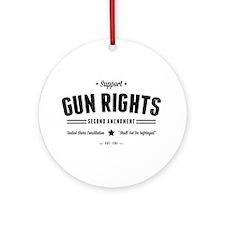 Support Gun Rights Round Ornament