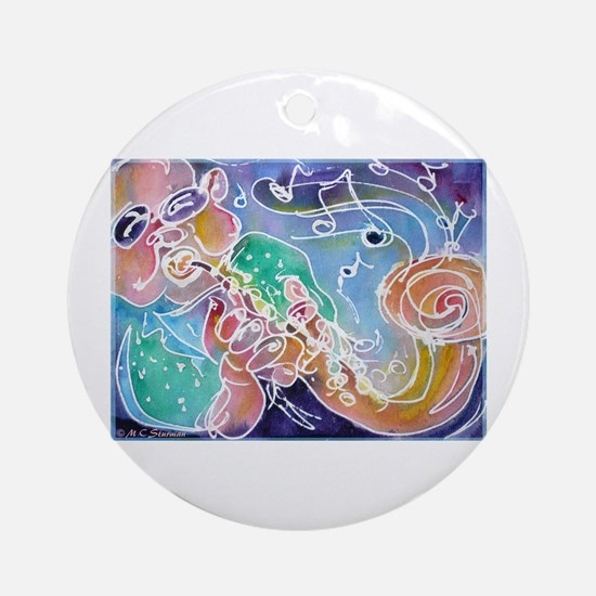 Colorful, Musician Ornament (Round)