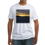 Winter Sunset 0217 Fitted T-Shirt