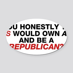 Jesus Is Not A Gun-Toting Republican Oval Car Magn