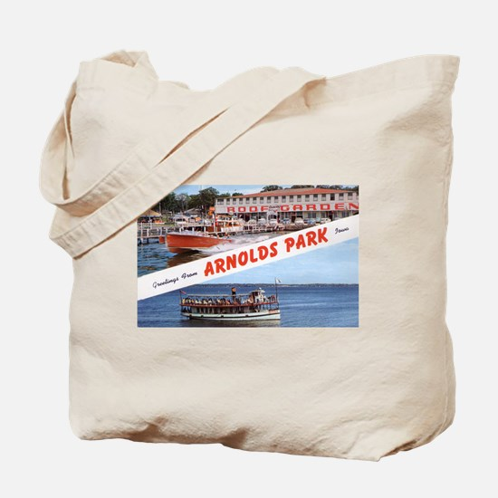 1958 Views of Arnolds Park Tote Bag