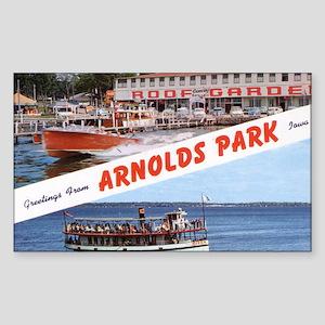 1958 Views of Arnolds Park Rectangle Sticker