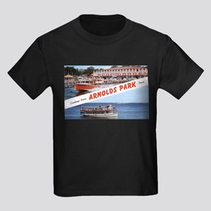 1958 Views of Arnolds Park Kids Dark T-Shirt