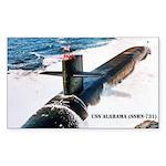 USS ALABAMA Rectangle Sticker
