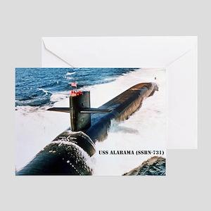 USS ALABAMA Greeting Card