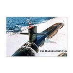 USS ALABAMA Mini Poster Print