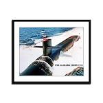 USS ALABAMA Framed Panel Print