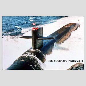 USS ALABAMA Large Poster