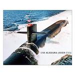 USS ALABAMA Small Poster