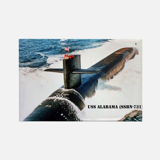 USS ALABAMA Rectangle Magnet