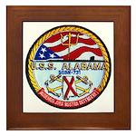 USS ALABAMA Framed Tile