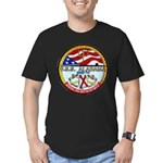 USS ALABAMA Men's Fitted T-Shirt (dark)