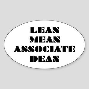 Lean Mean Associate Dean Oval Sticker