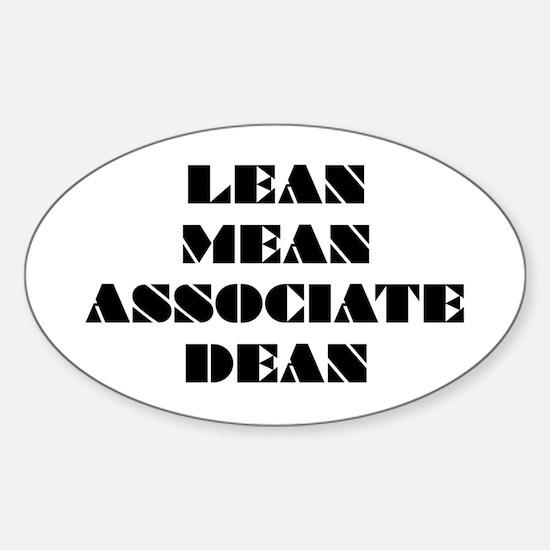 Lean Mean Associate Dean Oval Decal