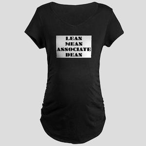 Lean Mean Associate Dean Maternity Dark T-Shirt