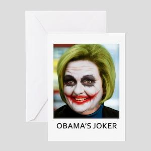 Obama joker greeting cards cafepress obamas joker greeting card m4hsunfo