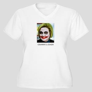 Obama's Joker Women's Plus Size V-Neck T-Shirt