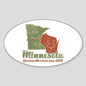 MN: Spooning WI Oval Sticker