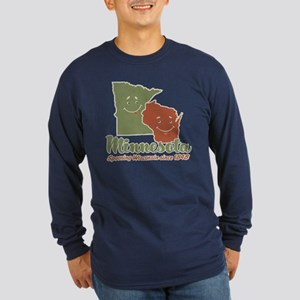 MN: Spooning WI Long Sleeve Dark T-Shirt