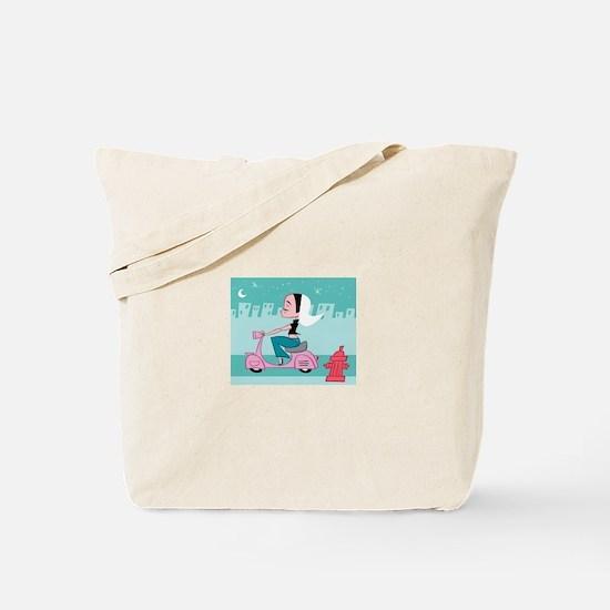 Cute Pink motorcycle Tote Bag