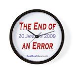 """""""End of an Error"""" Wall Clock"""