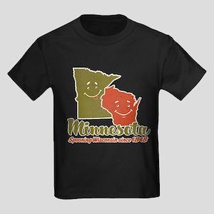 MN: Spooning WI Kids Dark T-Shirt