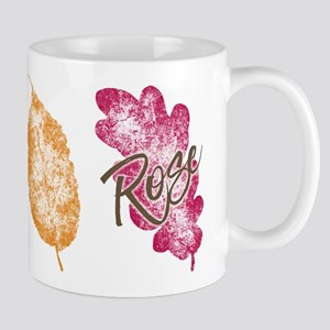 Rose Golden Girls Leaf Mugs