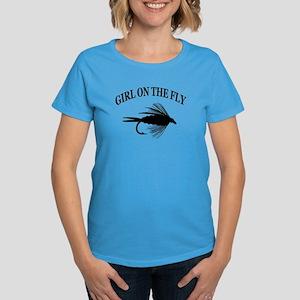 GIRL ON THE FLY Women's Dark T-Shirt