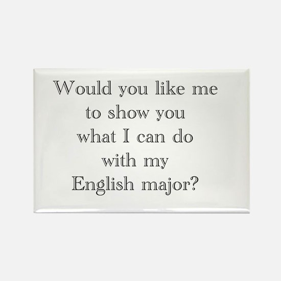 Do With An English Major Rectangle Magnet