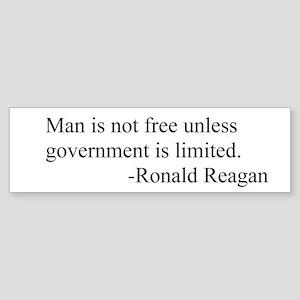 Ronald Reagan limited government Bumper Sticker