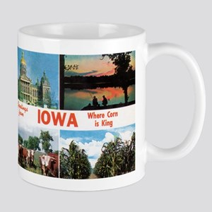 1950's Greetings from Iowa Mug