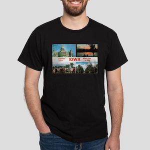 1950's Greetings from Iowa Dark T-Shirt