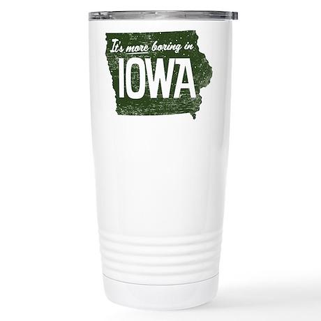 Iowa Boring Stainless Steel Travel Mug