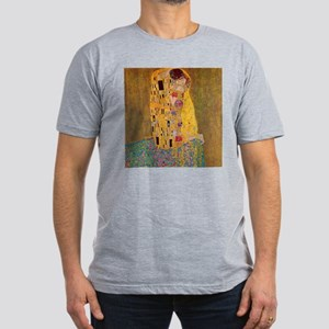 The Kiss by Klimt Men's Fitted T-Shirt (dark)