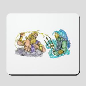 Zeus Thunderbolt Vs Poseidon Trident Tattoo Mousep