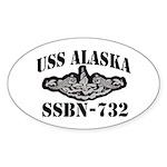 USS ALASKA Oval Sticker