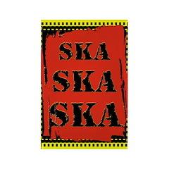 Ska Ska Ska Punk Rock Rectangle Magnet (10 pack)