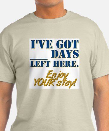 Days Left Here Ash Grey T-Shirt