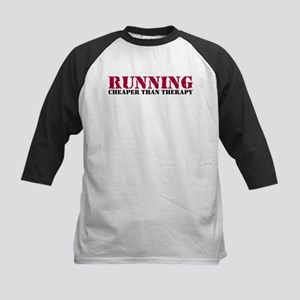Running therapy red Kids Baseball Jersey
